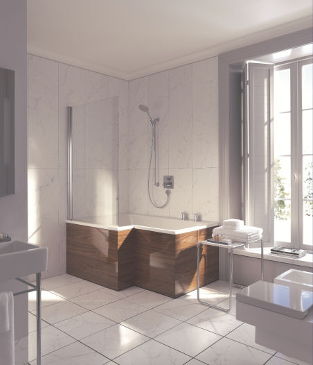 Small Bathroom Tub And Shower Combo: Duravit Seadream Shower And Bathtub Combo