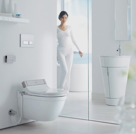heated toilet seat bidet combo by philippe starck new. Black Bedroom Furniture Sets. Home Design Ideas