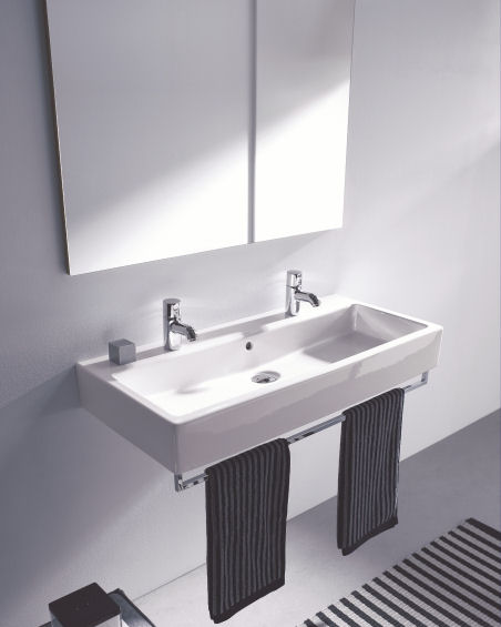 duravit vero washbasin Duravit Vero washbasin   classic rectangular washbasin in 3 new sizes