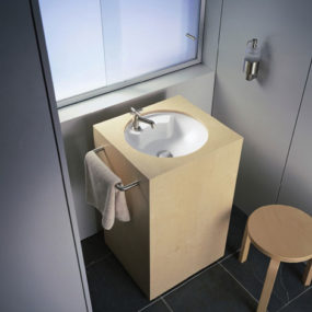 2 Architec Washbasin by Duravit  the small bathroom solution