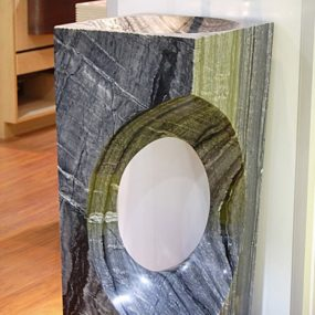 Natural Stone Pedestal Sinks – pedestal sink photos from D'Vontz