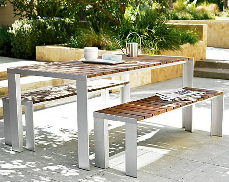 dwr deneb outdoor dining table Contemporary Outdoor Dining Table from Design Within Reach   the Deneb patio table