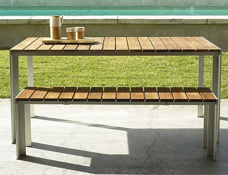 Contemporary Outdoor Dining Table From Design Within Reach U2013 The Deneb Patio  Table