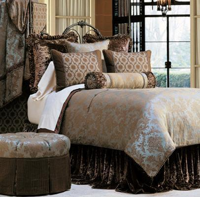 Luxury bedding by Eastern Accents fresh colors