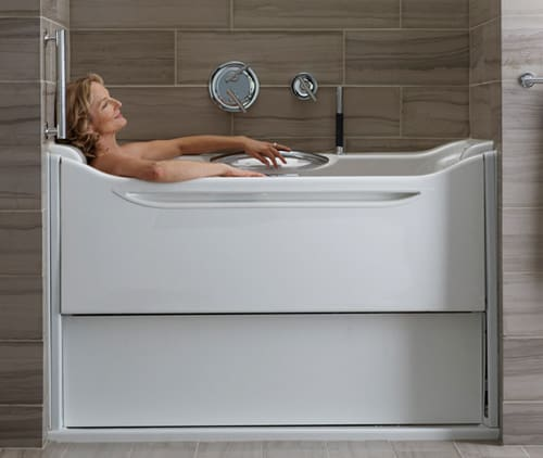 Easy Access Bathtubs - Rising Wall Bath Elevance by Kohler