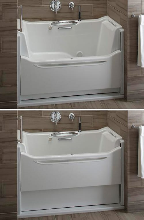 Easy Access Bathtubs Rising Wall Bath Elevance By Kohler