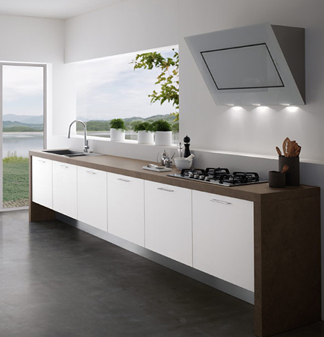 easy kitchen1 treo Contemporary Kitchens Without Upper Cabinets   Easy Kitchen by Treo