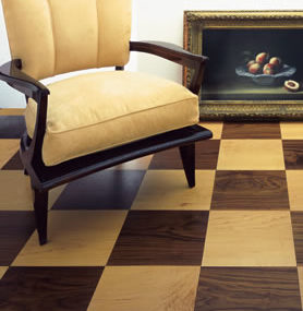 Chequerboard wood flooring by Ebony – handcrafted solid wood floors