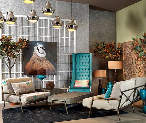 Eclectic High Back Chairs   Majestic Turquoise Armchair By ...