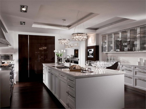 eclectic kitchen designs: beauxarts.02siematic