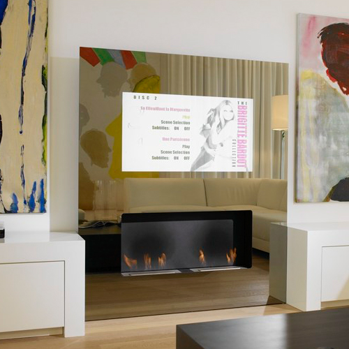 eco friendly fireplace lcd tv safretti 1 Eco friendly Fireplaces with built in LCD TV   Safretti Double Vision