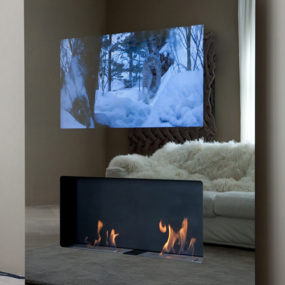 Eco-friendly Fireplaces with built-in LCD TV – Safretti 'Double Vision'