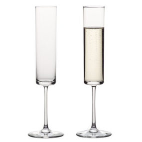 Edge Flute from Crate & Barrel – the contemporary style Slovakian glass