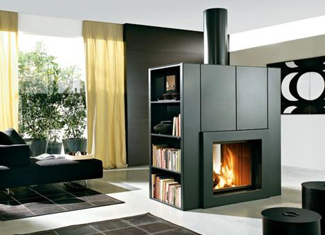 edilkamin modern fireplace kubic