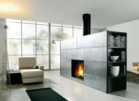 edilkamin modern fireplace steel art