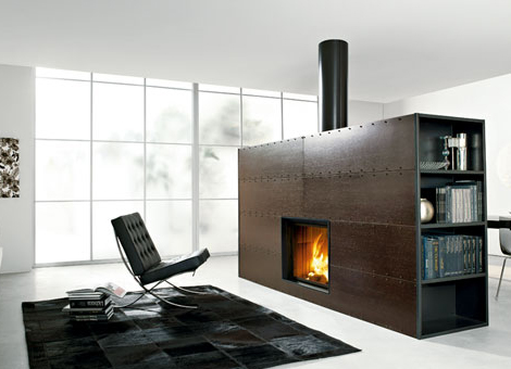edilkamin modern fireplace wenge art Modern Fireplaces from Edilkamin   simply gorgeous