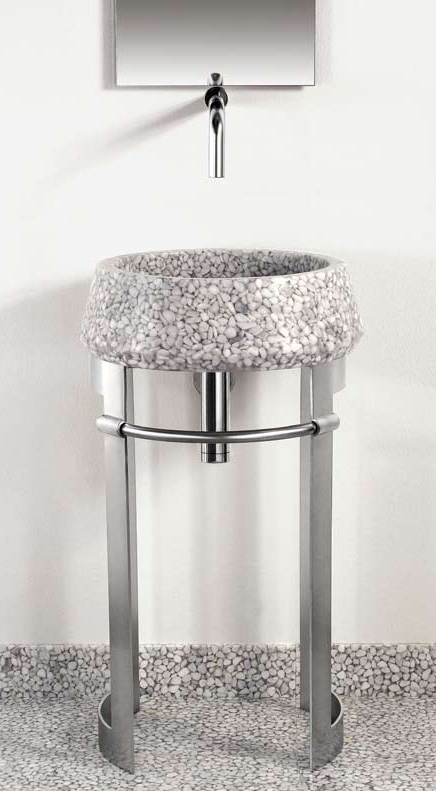 Modern Sheet Metal Pedestal Sink From Effepimarmi New Leg
