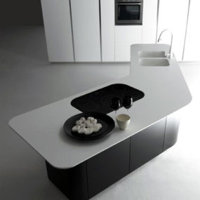 Effeti Kitchen – new Sinuosa – stark, sweeping surfaces