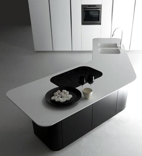 effeti sinuosa kitchen Effeti Kitchen   new Sinuosa   stark, sweeping surfaces