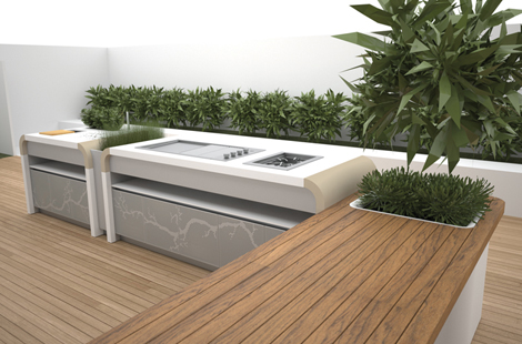 electrolux outdoor kitchen 1 Electrolux Outdoor Kitchen by landscape designer Jamie Durie