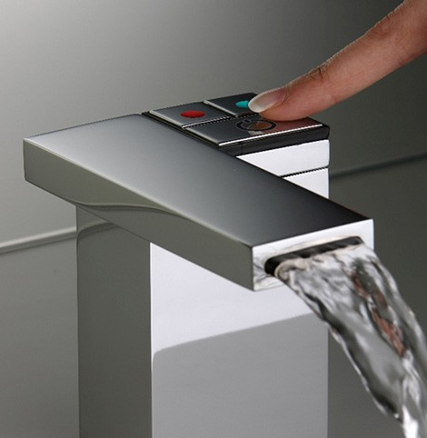 electronic faucet silfra feeling Electronic Faucet Feeling from Silfra   clean one touch operation