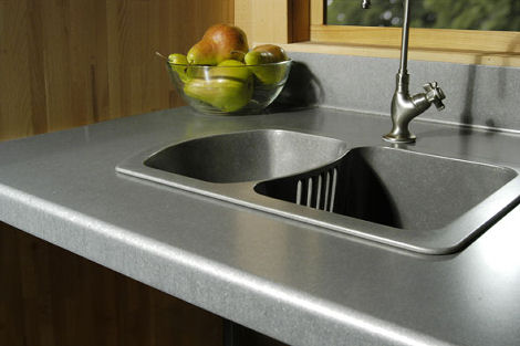 eleek recycled aluminum countertop Green Countertops from Eleek   Recycled Aluminum Countertops and Tiles