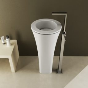 Modern Pedestal Wash Basin by Cielo – Floot
