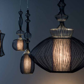 Wire Shade Lamps by Elite