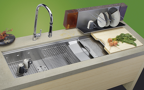 elkay food preparation sinks cascade 1 Food Preparation Sinks   Cascade sink design from Elkay