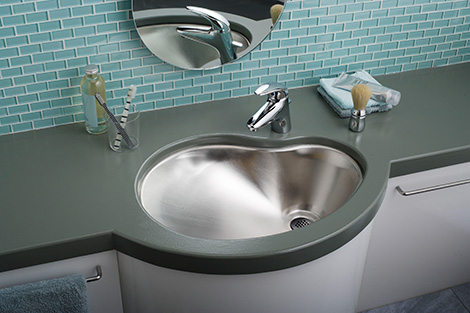 Elkay Mystic Puddle Kitchen Sink & Puddle Bathroom Sink – new Mystic sinks