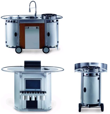 emme bongos trolley cart Bongos portable kitchen from Emme Group   a professional mobile kitchen