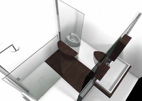 emme design bathroom walk in 1 Walk in Bathroom from Emmedesign   a concept with freedom of movement