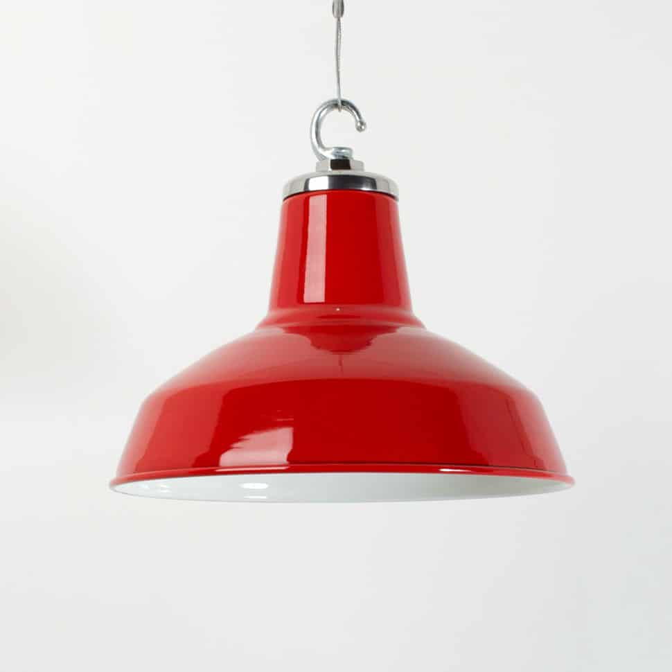 Enameled Salvaged Industrial Pendants By Trainspotters
