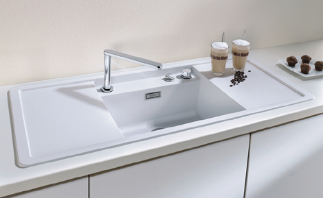 Enclosed Kitchen Sinks with Movable Cutting Boards and Retractable ...