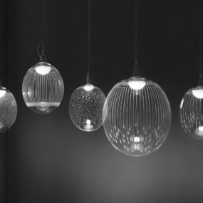 Engraved Crystal Lighting by Atelier Areti