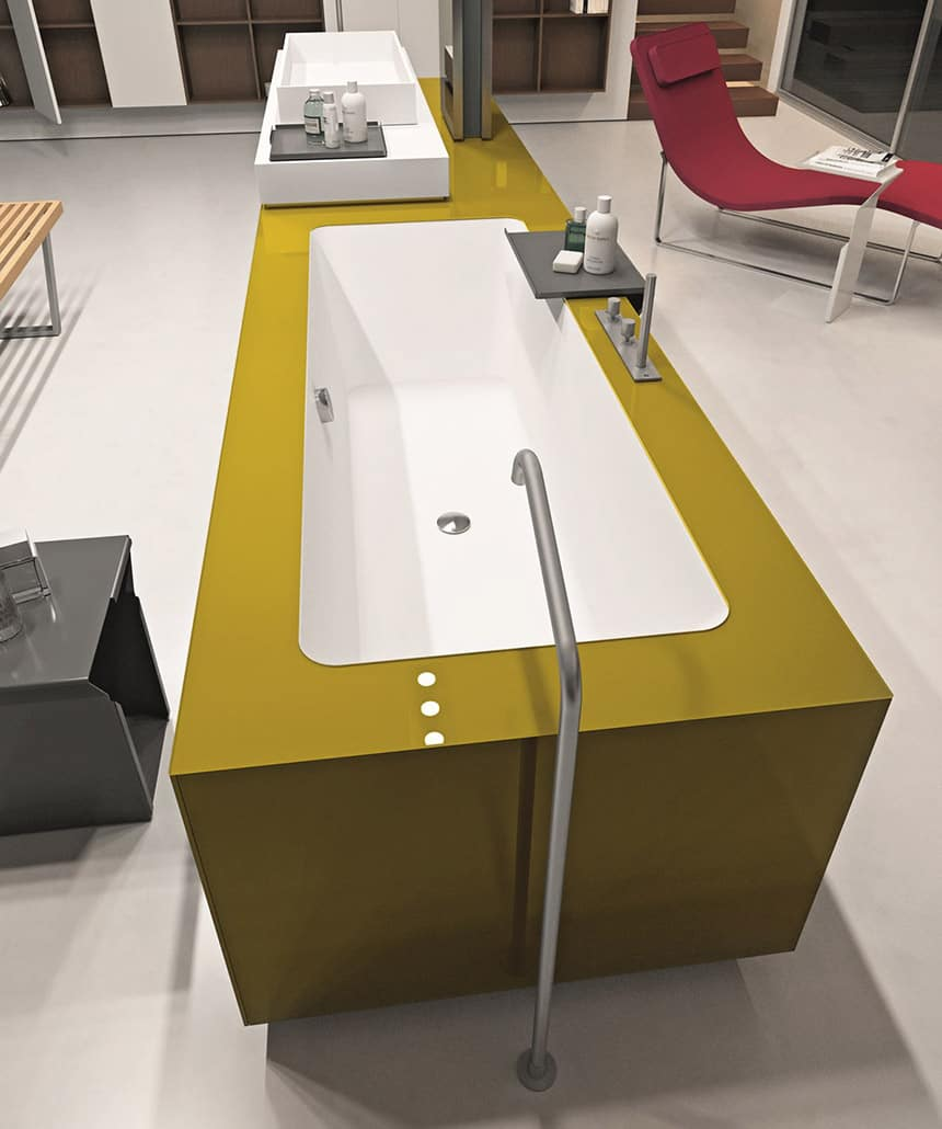 View In Gallery Ergonomic Bathroom System From Makro Integrates Bathtub  Shower