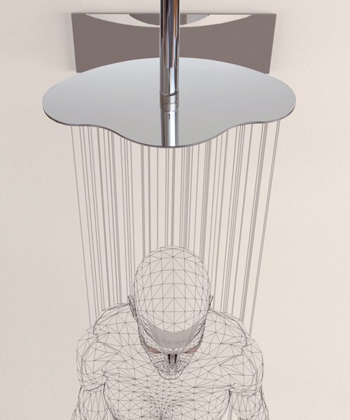 ergonomic shower heads ponsi ergo 1 Ergonomic Shower Heads by Ponsi