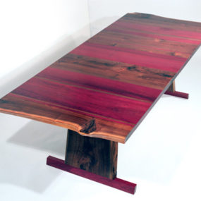 Solid Walnut Dining Table – absolutely gorgeous with purple heart wood