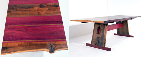 Exceptionnel Eric Manigian Walnut Dining Table Detail