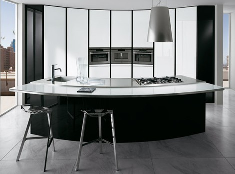ernestomeda kitchen elektra vetro 1 Curved Kitchen Designs   curved kitchen islands, curved cabinets by Ernestomeda
