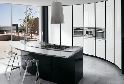 Ernestomeda Kitchen Elektra Vetro 2 Curved Kitchen Designs Curved Kitchen  Islands, Curved Cabinets By Ernestomeda
