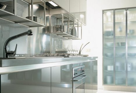 ernestomeda verve kitchen frosted glass door