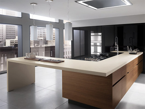 ernestomedaelectrawalnutkitchen New Electra Walnut Kitchen from Ernestomeda