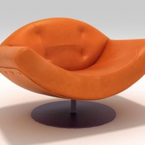 Contemporary Leather Armchair by Etel Interiors