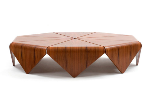 etelinteriores coffe table petalas 2 Handmade Modern Wood Table by Etel – Petalas