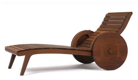 etelinteriores lounger carro de boi 1 Outdoor Wooden Lounger by Etel Interiors