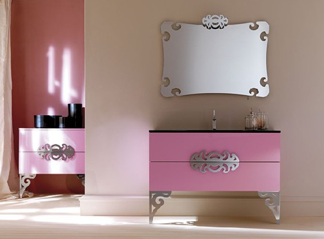 Neo baroque furniture for bathroom by eurolegno glamor for Meuble baroque moderne