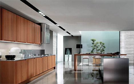 Euromobil Kitchen Filanta Contemporary Kitchen From Gruppo Euromobil U2013  Filanta Combines Warm Wood And Strong Steel
