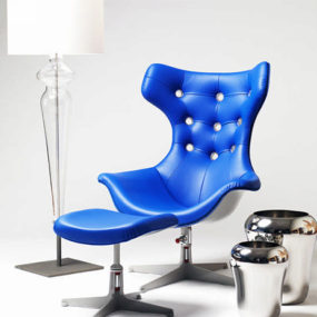 Contemporary Chair from Evitavonni – the Blue Chair projects vivid, dynamic power