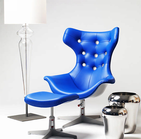evitavonni blue chair Contemporary Chair from Evitavonni   the Blue Chair projects vivid, dynamic power